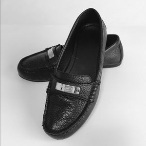 Coach Black Leather Leather Flats size 7B